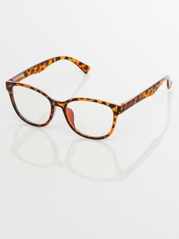 Modne okulary zerówki pantera klasyczne - soczewki ANTYREFLEKS,system FLEX na zausznikach