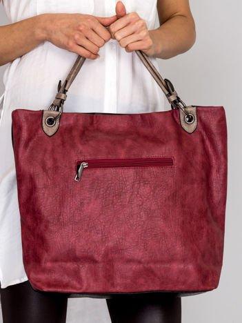 Modułowa miękka torba bordowa