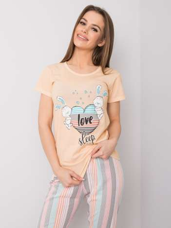 Morelowa piżama damska