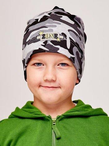 Moro czapka chłopięca z naszywką ZONE szara