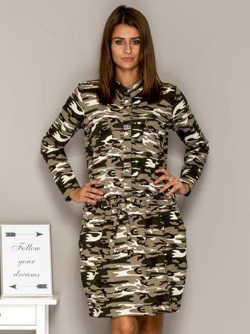 Moro sukienka dzienna z kołnierzykiem