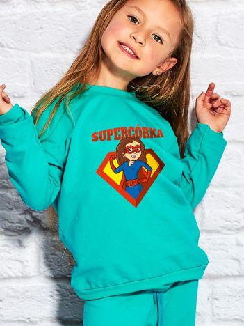 Morska bluza dziecięca SUPER CÓRKA brunetka