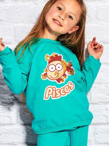 Morska bluza dziecięca znak zodiaku RYBY