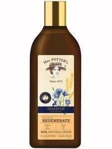 Mrs Potters Triple Grain Szampon do włosów zniszczonych Regenerate  390 ml