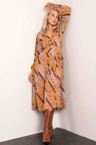 Musztardowa sukienka BSL