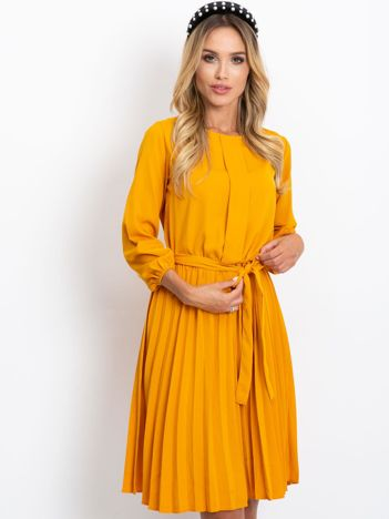 Musztardowa sukienka Dakota
