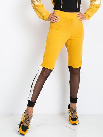 Musztardowe spodnie Melody