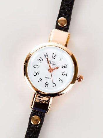 NIESKOŃCZONOŚĆ  zegarek damski w odcieniu czerwonego złota owijany wokół nadgarstka