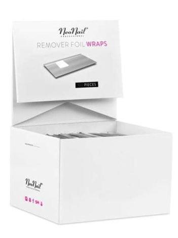 NeoNail Nail Foil Wraps - Folie do usuwania lakieru hybrydowego 50szt.