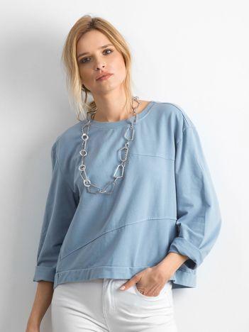 Niebieska bawełniana bluza oversize