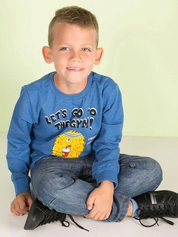 Niebieska bluzka dla chłopca z bawełny