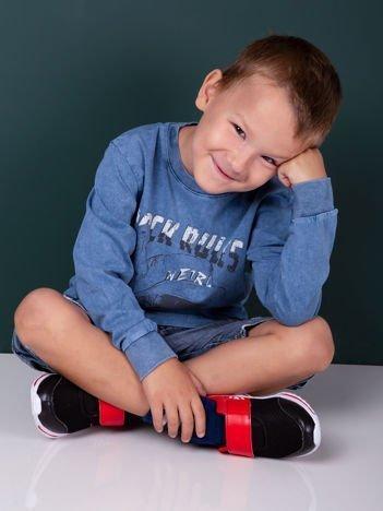Niebieska bluzka dla chłopca z nadrukiem