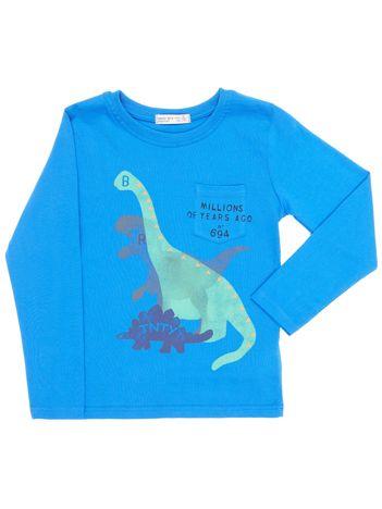 Niebieska bluzka dziecięca z dinozaurami