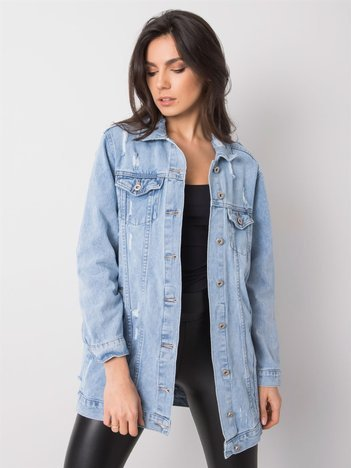 Niebieska damska kurtka jeansowa Ana