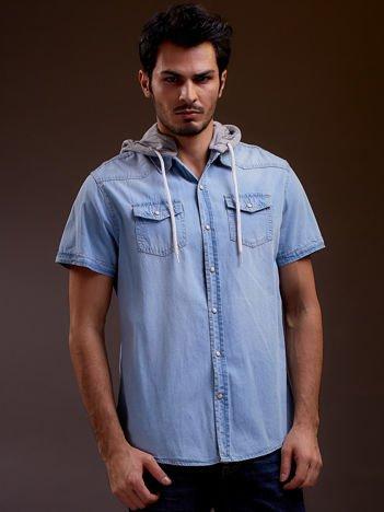 Niebieska denimowa koszula męska FUNK N SOUL