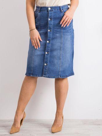 Niebieska denimowa spódnica plus size