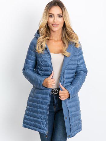 Niebieska dwustronna kurtka Quartz