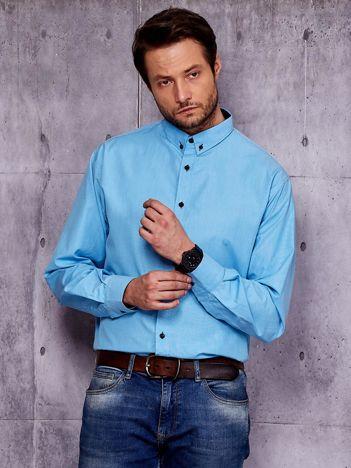 Niebieska koszula męska PLUS SIZE