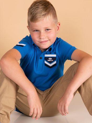 Niebieska koszulka polo dla chłopca TOMMY LIFE