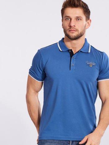 Niebieska koszulka polo dla mężczyzny