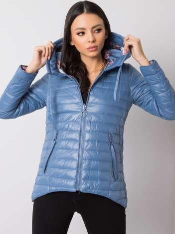 Niebieska kurtka dwustronna Laura