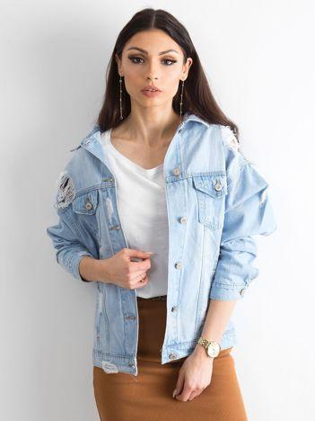Niebieska kurtka jeansowa Melody