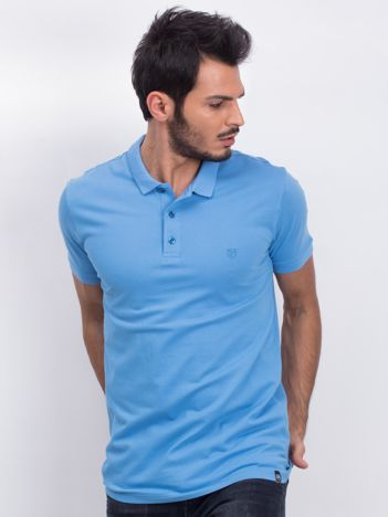 Niebieska męska koszulka polo Numerous