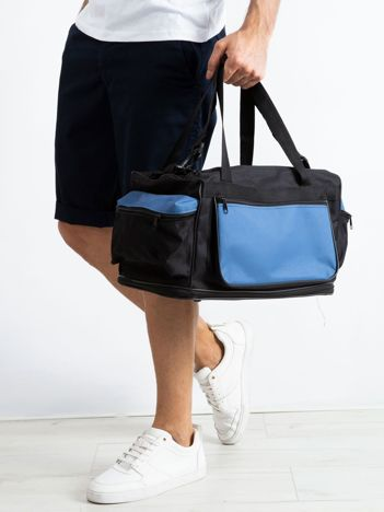 Niebieska męska torba treningowa
