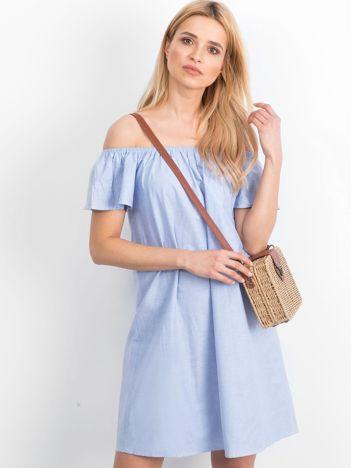 Niebieska sukienka Fellina
