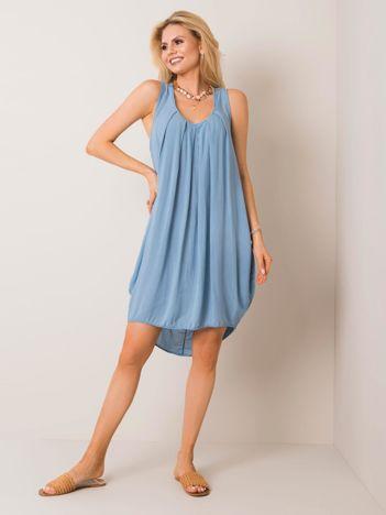 Niebieska sukienka Peony OCH BELLA