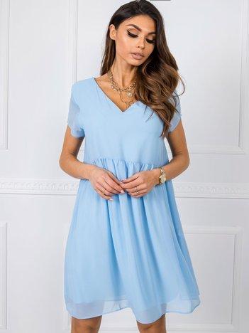 Niebieska sukienka Sarah RUE PARIS