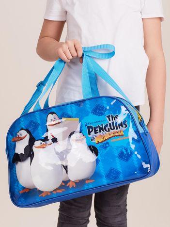 Niebieska torba dziecięca PINGWINY Z MADAGASKARU