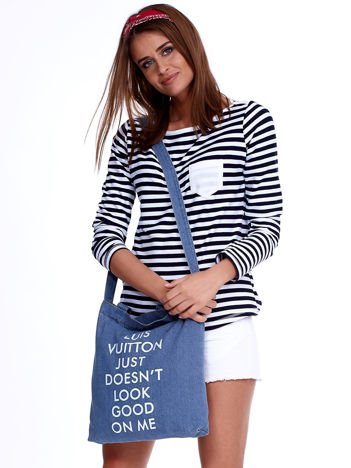 Niebieska torba dżins VUITTON JUST DOESN'T LOOK GOOD ON ME