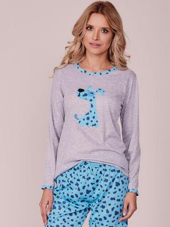 Niebieska wzorzysta piżama
