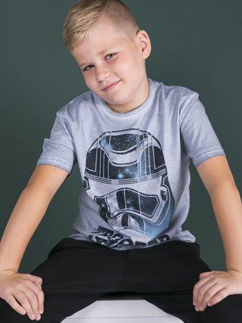 Niebieski dekatyzowany t-shirt chłopięcy STAR WARS
