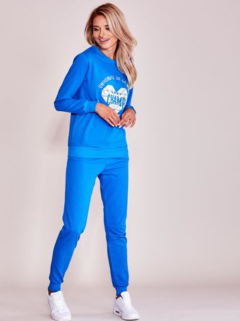Niebieski komplet dresowy bluza + spodnie