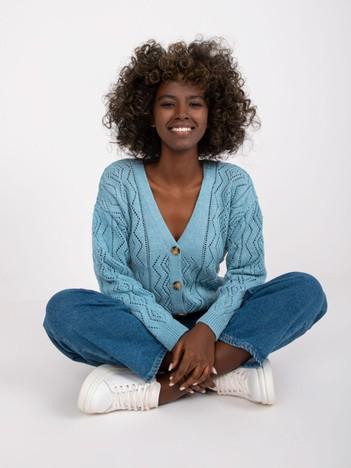 Niebieski sweter na guziki Gregoire RUE PARIS