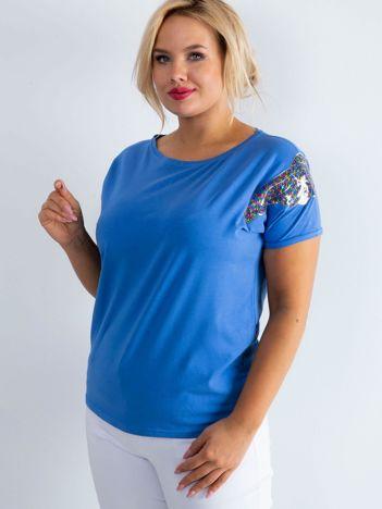 Niebieski t-shirt Magically PLUS SIZE
