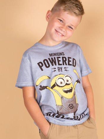 Niebieski t-shirt chłopięcy MINIONKI