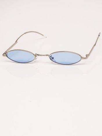 Niebieskie Metalowe Podłużne Okulary Unisex