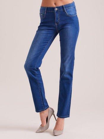 Niebieskie denimowe spodnie regular