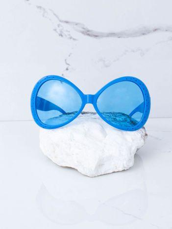 Niebieskie duże okulary
