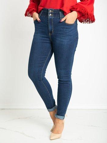 Niebieskie dżinsy plus size Sheebe