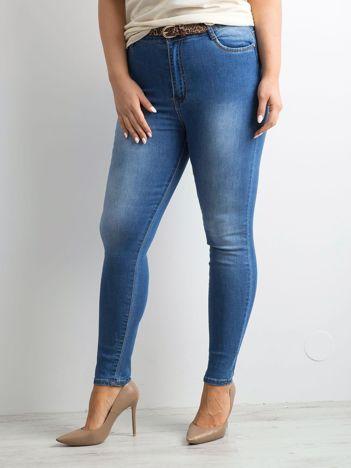 Niebieskie dżinsy rurki PLUS SIZE