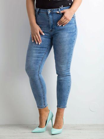 Niebieskie jeansowe rurki PLUS SIZE