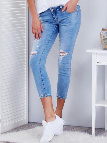 Niebieskie jeansowe rurki vintage