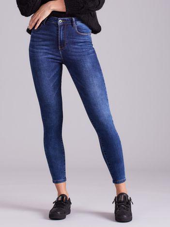 Niebieskie jeansowe rurki z suwakiem