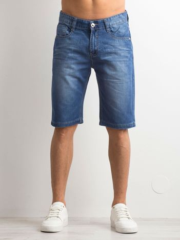 Niebieskie jeansowe spodenki męskie