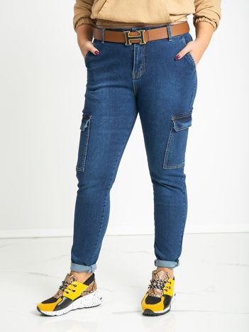 Niebieskie jeansy plus size Hana