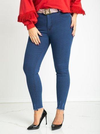 Niebieskie jeansy plus size Stylish